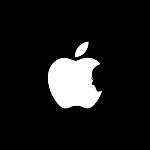 Apple steve silhouette